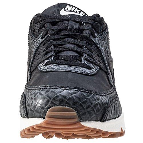 Nike Air Max 90 Prem Chaussure De Course Noir / Voile / Brun Moyen