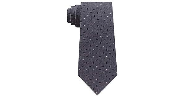 Calvin Klein Mini Oxford Square Slim Corbata de seda tejida para ...
