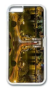 MOKSHOP Adorable chain bridge hungary Hard Case Protective Shell Cell Phone Cover For Apple Iphone 6 Plus (5.5 Inch) - PC Transparent