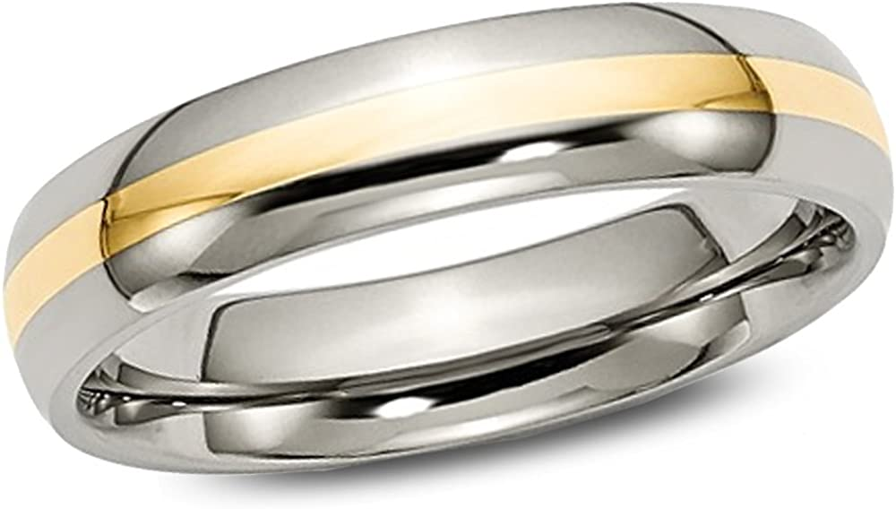 Gem And Harmony Mens Wedding Band in Tungsten with Gold Plating