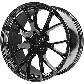 amazon oe wheels 20 inch fits dodge challenger charger srt8 2012 Dodge Charger SRT8 oe creations 161 hellcat replica 20x10 5x115 18mm gloss black wheel rim