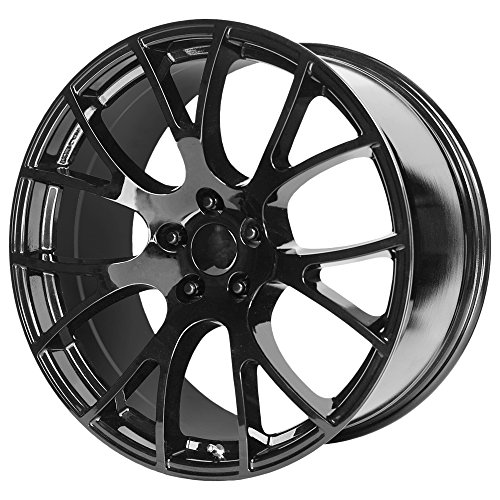OE Creations 161 Hellcat Replica 20x10 5x115 +18mm Gloss Black Wheel ()