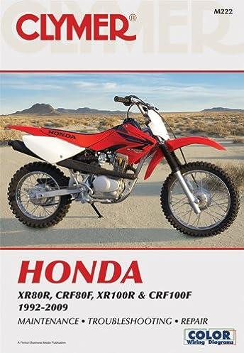 honda xr80r crf80f xr100r crf100f 1992 2009 clymer color wiring rh amazon com 1981 honda xr80 wiring diagram Honda Wiring Diagrams Automotive
