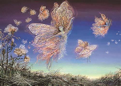Wowdecor 5D Crystal Diamond Painting with Diamonds Kits, Flower Fairy Elf Dandelion Fairy Tale, Full Drill DIY Diamond Dotz Embroidery Crafts Graphy Art