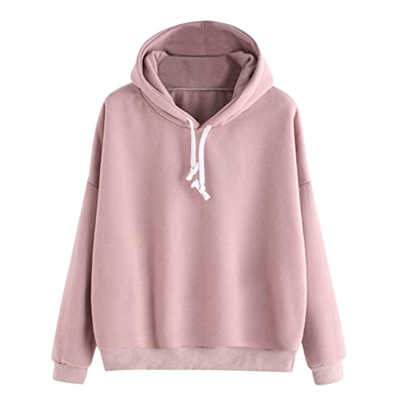 Amazon.com: Women Hoodie Sweatshirt Daoroka Cotton Long Sleeve Drawstring Autumn Winter Pullover Blouse Fashion Causal Tops: Clothing