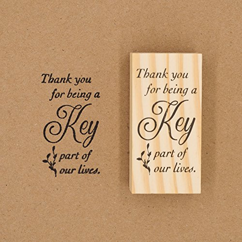 Ella Celebration Wooden Rubber Stamp for Tags, Thank You Stamps for Wedding Guest Favors (Thank You Cursive) Photo #5