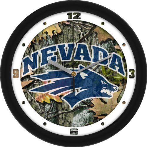 (SunTime NCAA Nevada Wolfpack Wall Clock - Camo)