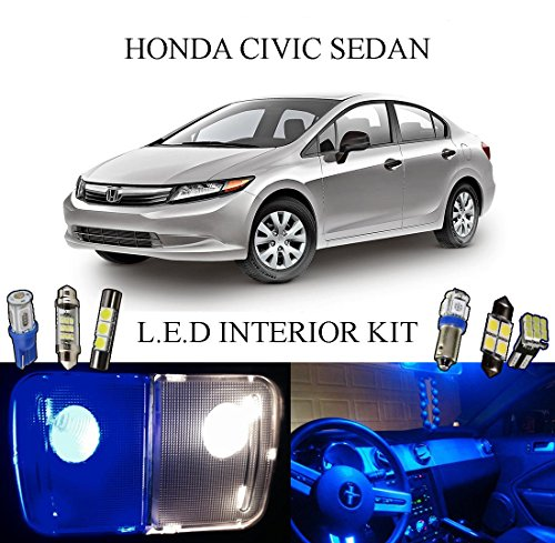 Area License Trim (2015 Honda Civic Coupe Ultra Blue LED Interior package + License Plate (6 pieces))