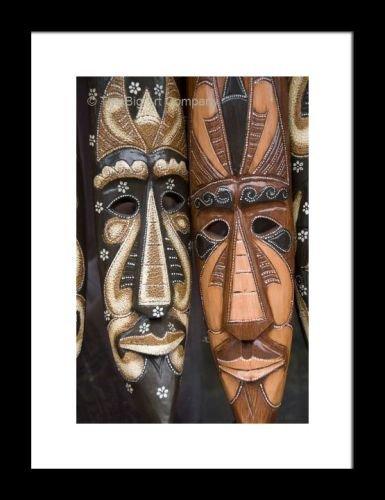 Con marco de madera tallada de máscaras de teatro griegas-