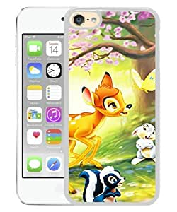 Popular iPod Touch 6 Case ,Beautiful And Durable Designed Case With Disney Bambi white iPod Touch 6 Screen Cover Custom Drsigned Phone Case