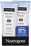 Neutrogena Ultra Sheer SPF 45 Twin Pack 3.0  Ounce, Health Care Stuffs