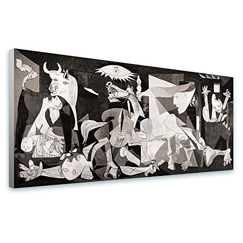 Alonline Art Guernica Pablo Picasso FRAMED STRETCHED CANVAS (100% Cotton) Gallery Wrapped - READY TO HANG | 50