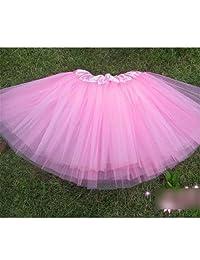 Girls Ballet Tutu Dress Organdy Platter Skirt Dance Dress Dancewear Pink