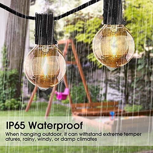 Wodtree Solar-LED-Lichterketten, 25FT 25LED Birnen Wetter Garten Beleuchtung for Indoor Outdoor Patio Yard Hochzeit Weihnachtsdekoration
