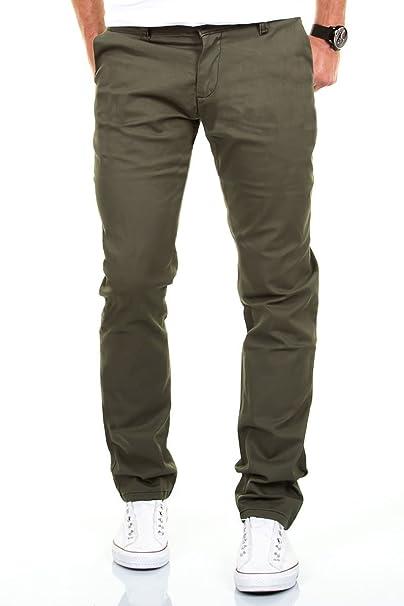 189e12e4cc6a46 Merish Chino Slim Fit pantaloni Jeans 6 colori 68 Verde oliva ...