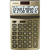 Casio Jw-200tw-gd 12-digit Calculator Gt Dual Power Jw200tw Gold