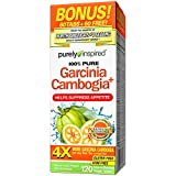 Purely Inspired 100% Pure Garcinia Cambogia, Helps Suppress Appetite, Weight Management, 100 Count