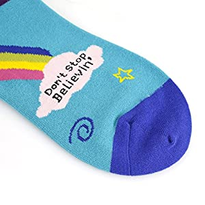Zmart Women Girls Cool Novelty Funny Unicorn Rainbow Crazy Crew Socks