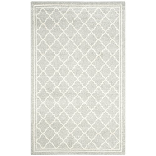6' Polypropylene Area Rug (Safavieh Amherst Collection AMT422B Light Grey and Beige Indoor/ Outdoor Area Rug (6' x 9'))