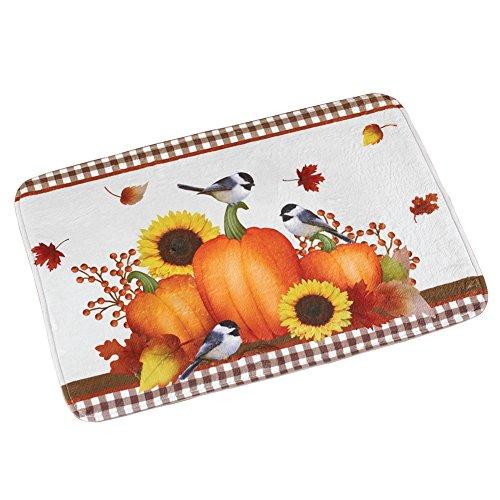 Autumn Pumpkin Harvest Bath Mat