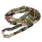 Raw Tourmaline Sticks, Natural Tourmaline Nuggets, Pink,Green Tourmaline, 7mm-12mm, 16 Inch Strand,