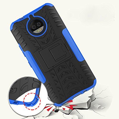 OFU®Para MOTO G5S Plus 5.5 Funda, Híbrido caja de la armadura para el teléfono MOTO G5S Plus 5.5 resistente a prueba de golpes contra la lucha de viaje accesorios esenciales del teléfono-Rose Red rojo