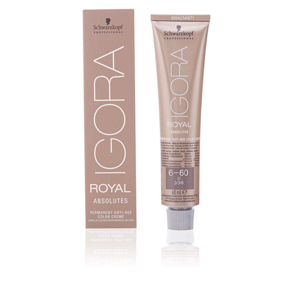 Schwarzkopf Professional Igora Royal Absolutes Anti-Age Color Creme 6-60 Tinte - 60 ml