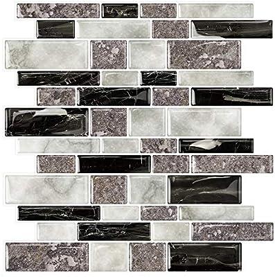 STICKGOO Marble Look Peel and Stick Tile Backsplash, Kitchen Backsplash  Peel and Stick, Decorative Self Adhesive Backsplash Tiles in Granite (Pack  of ...