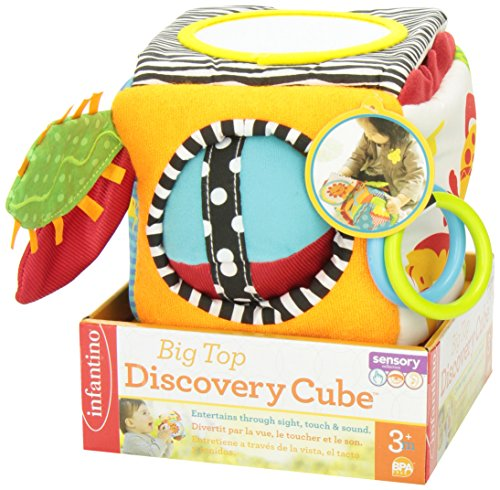 51bVbNaAmfL - Infantino Big Top Discovery Cube Development Toy