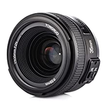 YONGNUO YN 35mm 1:2 F2N Wide Angle Lens with Automatic Focus and Manual Focus Options with TARION Portable Case for Nikon DSLR Cameras