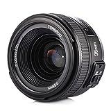 YONGNUO YN35mm F2N Objetivo focal fijo de 35 mm enfoque AF / MF con visión gran angular para cámara Nikon + TARION bolsa