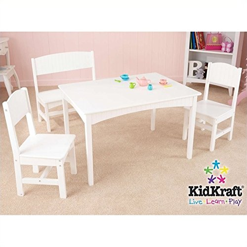 Nantucket Table with Bench and chairs by KidKraft