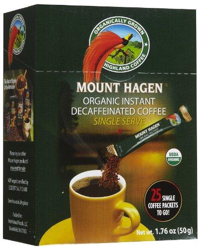Mount Hagen Organic Instant Decaffeinated Coffee, 25-Count Single Serve Sticks, 1.76 Oz ()