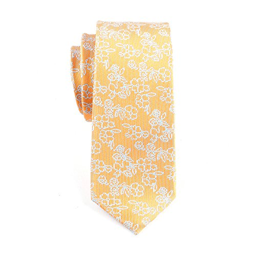 Flower regolabile trasparente Tight Droguet Male arancione Acvip Tie Knitting Printed xzqY0P6Pw
