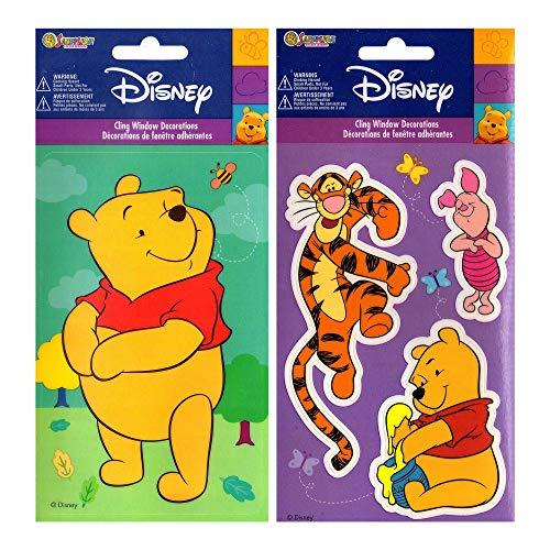 store51.com Winnie Pooh and Friends - Peel & Stick - 4 Window -