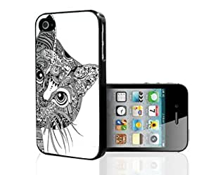 Black and White Aztec Kitten Hard Snap on Phone Case (iPhone 5/5s)