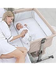 Bedside Sleeper Bedside Crib, Baby Bassinet 3 in 1 Travel Baby Crib (Khaki)