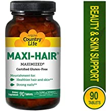 Country Life - Maxi-Hair, Strengthens Hair, Skin, and Nails - 90 Tablets.