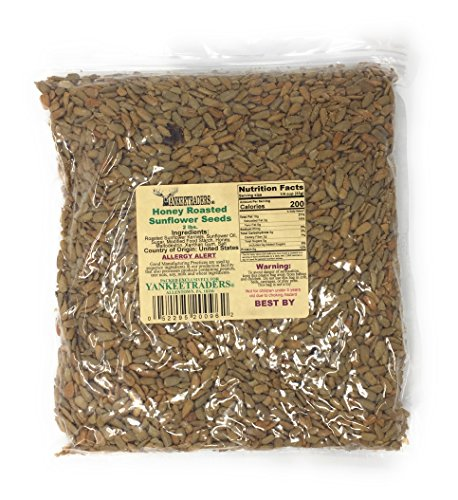 Yankee Traders Brand Sunflower Seeds, Honey Roasted, 2 Pound ()