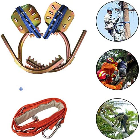 ノンスリップクライミングツリースパイク、電気技師クライミングツリーフットバックル、クライミングツリーツール、ハイキング観察用フルーツクライミングエイド,400type