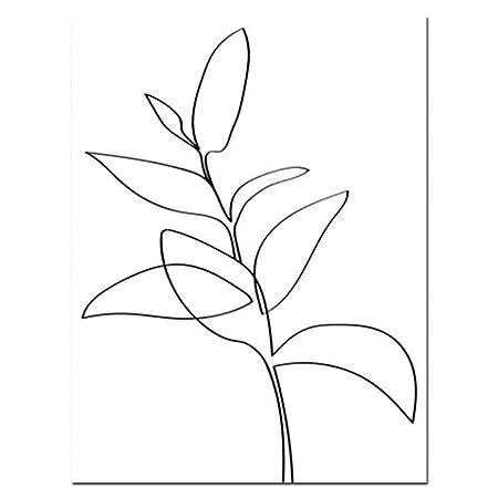 ZHUANG Pintura Decorativa Bosquejo De Plantas Impresiones ...