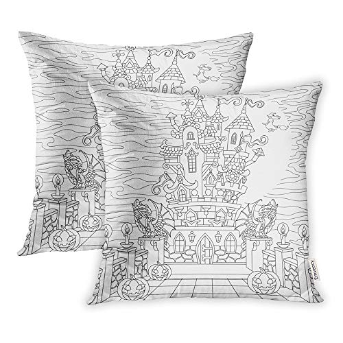 Emvency Set of 2 Throw Pillow Covers Print