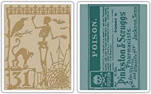 Sizzix Tim Holtz Halloween Night and Poison Textured Fades Embossing Set - 2 Pack
