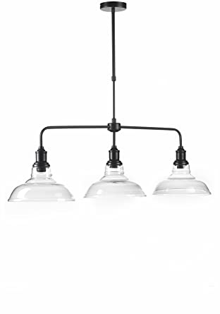 ONLI , Trilancere Lampada a Sospensione, stile Urban/Industrial, Metallo,  Nero, tre luci Amazon.it Illuminazione