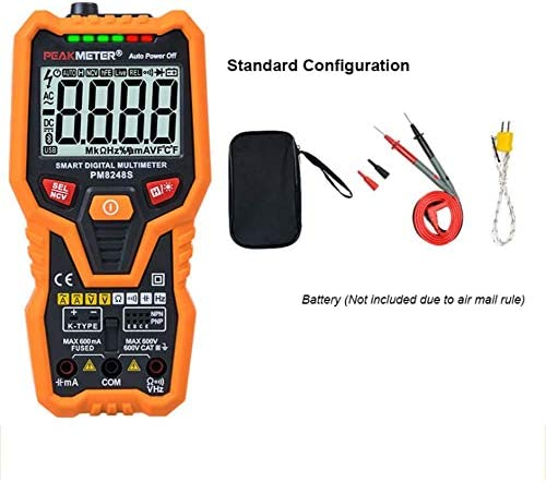 Nuokix Fully Automatic Digital Multimeter High Precision Anti-Burning Temperature Frequency Meter Testing Measuring Tools