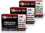 ECO INK Compatible / Remanufactured for Dell Series 9 (3 Color) MK991-MK993 Dell 926, V305, V305W