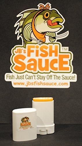 JB's Fish Sauce Fish Attractant Bait Additive Enhancer - FishStick .5oz Deodorant Style - Garlic - CATCH MORE FISH! - Works On All Species - Real Crude Fish Oils
