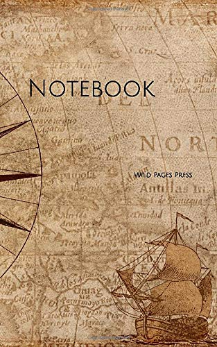 Notebook: compass map nautical antique navigation