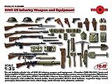 ICM 035688-1/35WWI Us infanterie Armes et accessoires en plastique modèle Kit
