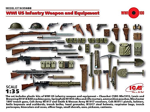 ICM35688 1/35 WWI US Infantry Weapon/Equipment